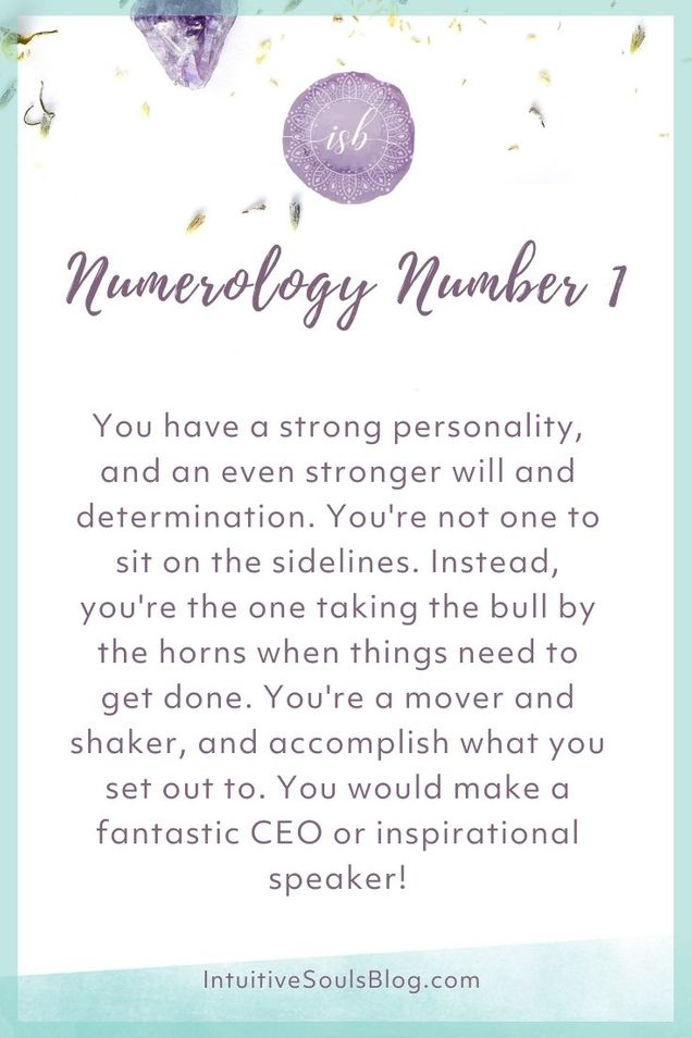 numerology number 1 personality traits
