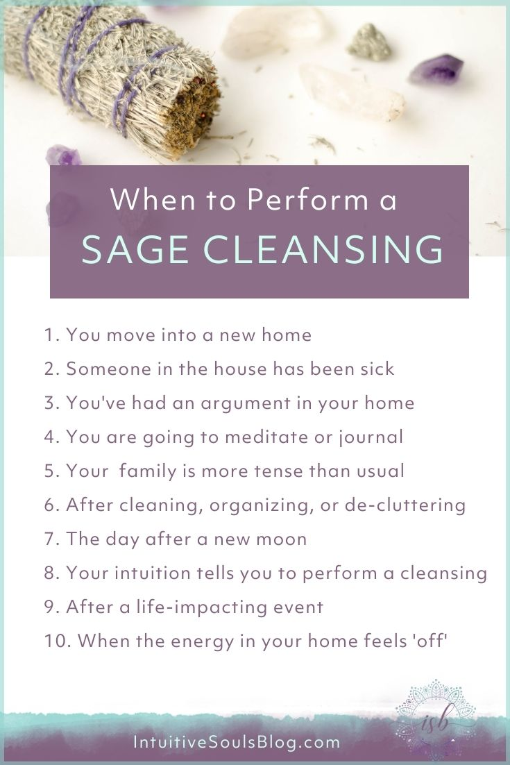 when to do a sage cleansing